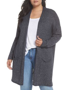 Drop Shoulder Open Cardigan by Caslon