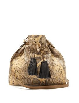 Beeka Snake Effect Leather Bucket Bag by Isabel Marant