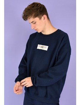 G&G Unisex Navy Original Lino Patch Sweat by Goose & Gander Ltd