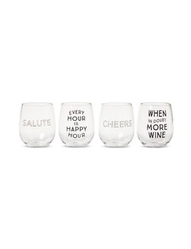 Plastic Stemless Wine Glasses 13.4oz Set Of 4   Room Essentials™ by Shop All Room Essentials™