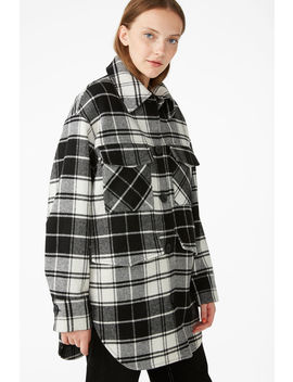 Plaid Utility Jacket by Monki