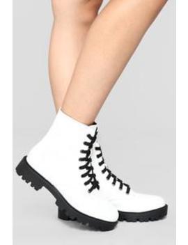 We're Not Talking Booties   White by Fashion Nova