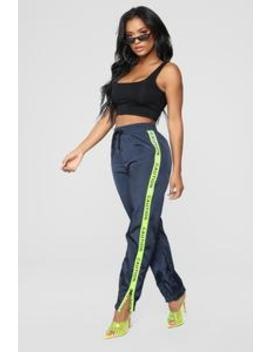 Handle With Care Joggers   Navy by Fashion Nova