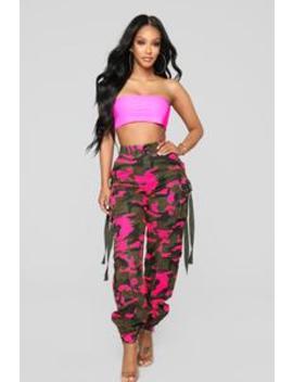Neomie Cargo Joggers   Pink by Fashion Nova