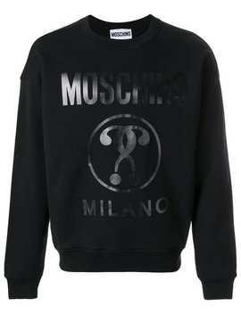 Moschinovinyl Print Sweatshirthome Men Moschino Clothing Sweatshirts Caravaggio Print T Shirtvinyl Print Sweatshirt by Moschino