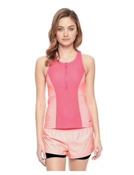 Outlet   Honeycomb Mesh Zip Tank by Juicy Couture