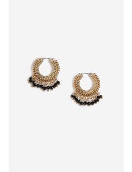 **Bead Drop Hoop Earrings by Topshop