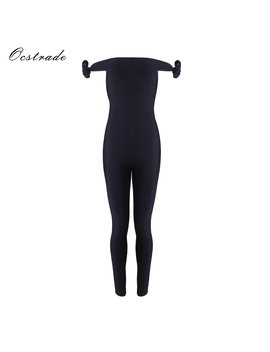 Ocstrade Bandage Jumpsuit 2018 New Arrivals Sexy Black Off The Shoulder Bodycon Bandage Jumpsuits Spandex For Women by Ocstrade