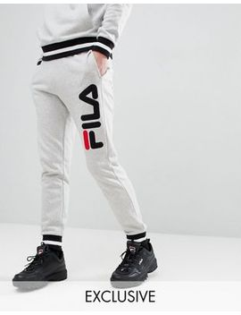 Fila Retro Track Joggers In Gray by Fila