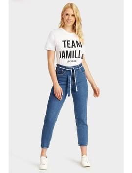 White Team Jamilla Love Island Slogan T Shirt by I Saw It First
