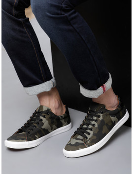 Locomotive Men Green Sneakers by Locomotive