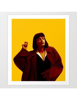 Mia Wallace   Yellow Art Print by
