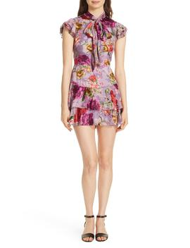 Lashay Ruffled Floral Minidress by Alice + Olivia