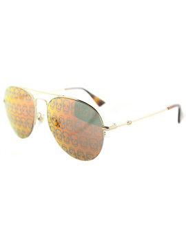 Gg0107s 002 Gold Aviator Sunglasses by Gucci