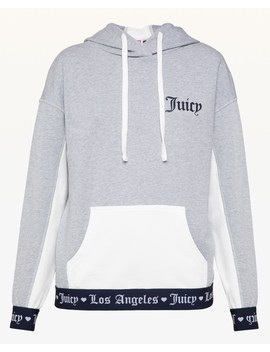 Jxjc Logo Colorblock Terry Hoodie by Juicy Couture