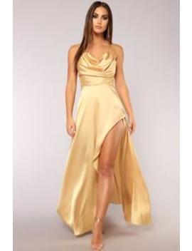 Rare Feeling Dress   Gold by Fashion Nova