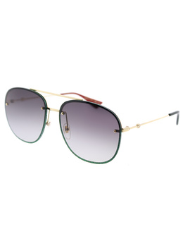 Gg0227s 001 Gold Oval Sunglasses by Gucci