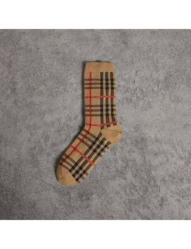 Vintage Check Cotton Blend Socks by Burberry
