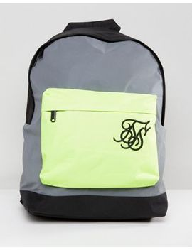 Sik Silk Backpack In Reflective by Sik Silk