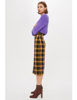Check Pencil Midi Skirt by Topshop