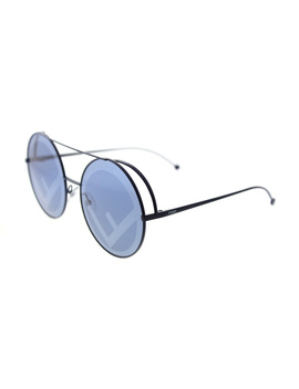 Run Away Ff 0285 Pjp Blue Round Sunglasses by Fendi