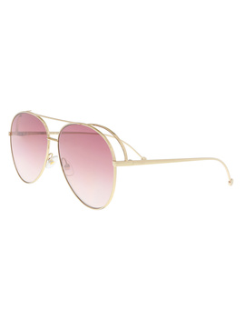Ff0286s 0000 Rose Gold Aviator Sunglasses by Fendi