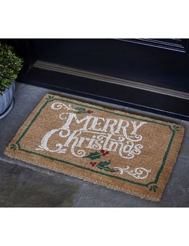 Merry Christmas Doormat by Pottery Barn
