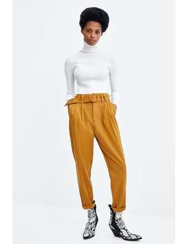Trousers With Buckled Belt  View All Trousers Trf by Zara