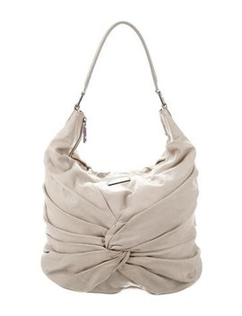 Burberry Ruched Leather Hobo by Burberry