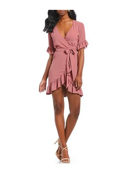 Morgan Ruffle Wrap Dress by Generic
