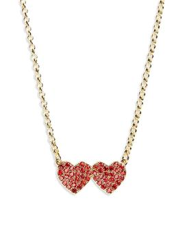 Yours Truly Pavé Heart Pendant Necklace by Kate Spade New York