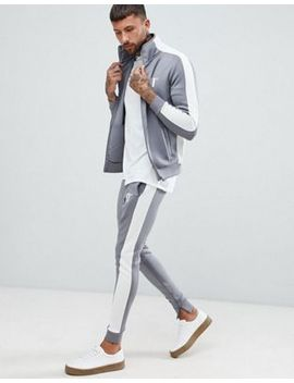 11 Degrees Muscle Fit Tracksuit In Grey by Asos