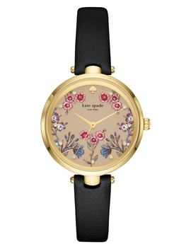 Holland Floral Leather Strap Watch, 34mm by Kate Spade New York