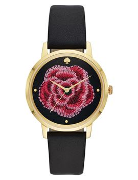 Metro Rose Leather Strap Watch, 38mm by Kate Spade New York