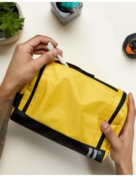 11 Degrees Washbag In Yellow by 11 Degrees