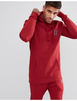 11 Degrees Hoodie In Red by 11 Degrees