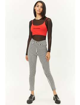 Striped High Waist Pants by Forever 21