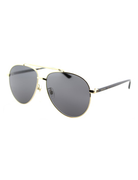 Gg0043sa 002 Gold Asian Fit Aviator Sunglasses by Gucci