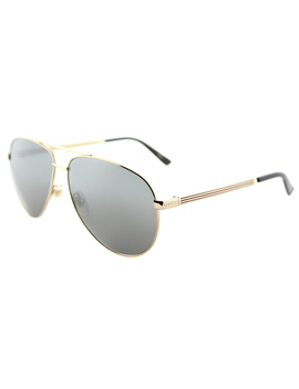 Gg0137s 002 Gold Aviator Sunglasses by Gucci