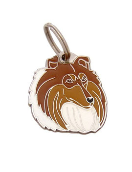 Pet Id Tag, (Dog Id Tag) Personalised, Stainless Steel, Breed, Collie by Mjav Hov