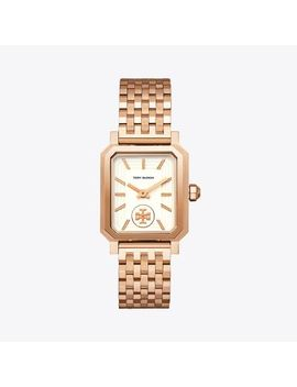 Robinson Watch, Rose Gold Tone/Cream, 27 X 29 Mm by Tory Burch