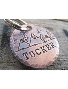 Hand Stamped Pet Id Tag   Personalized Pet/Dog Tag   Dog Collar Tag   Engraved Dog Tag   Handsatmped Pet Tag   Copper  Dog Tag by Etsy