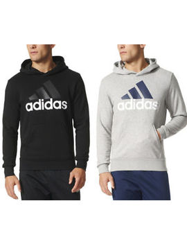 Adidas New Mens Kangaroo Pocket Logo Hoodie Sports Sweatshirt $80 by Adidas