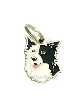 Pet Id Tag, (Dog Id Tag) Personalised, Stainless Steel, Breed,Mjav Hov, Border Collie by Mjav Hov