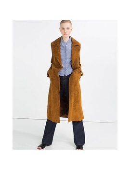 Zara Real Suede Trench Coat   Nwt by Zara