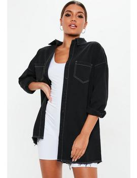 Black Oversized Utility Shirt Dress by Missguided