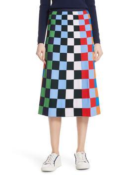 Check Tech Knit Skirt by Tory Sport