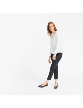 The Clean Silk Boatneck Blouse by Everlane