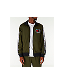 Men's Champion Side Tape Track Jacket by Champion