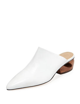 Haya Leather Slide Mule by The Row